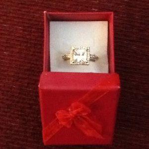 AMAZING CZ COCKTAIL WEDDING ENGAGEMENT RING, NWOT